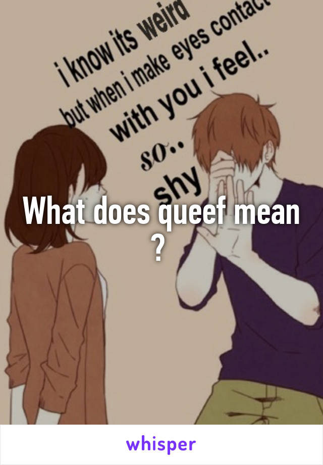 What does queef