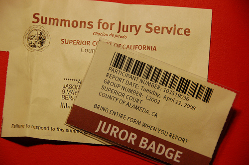 What happens if you miss jury duty in california