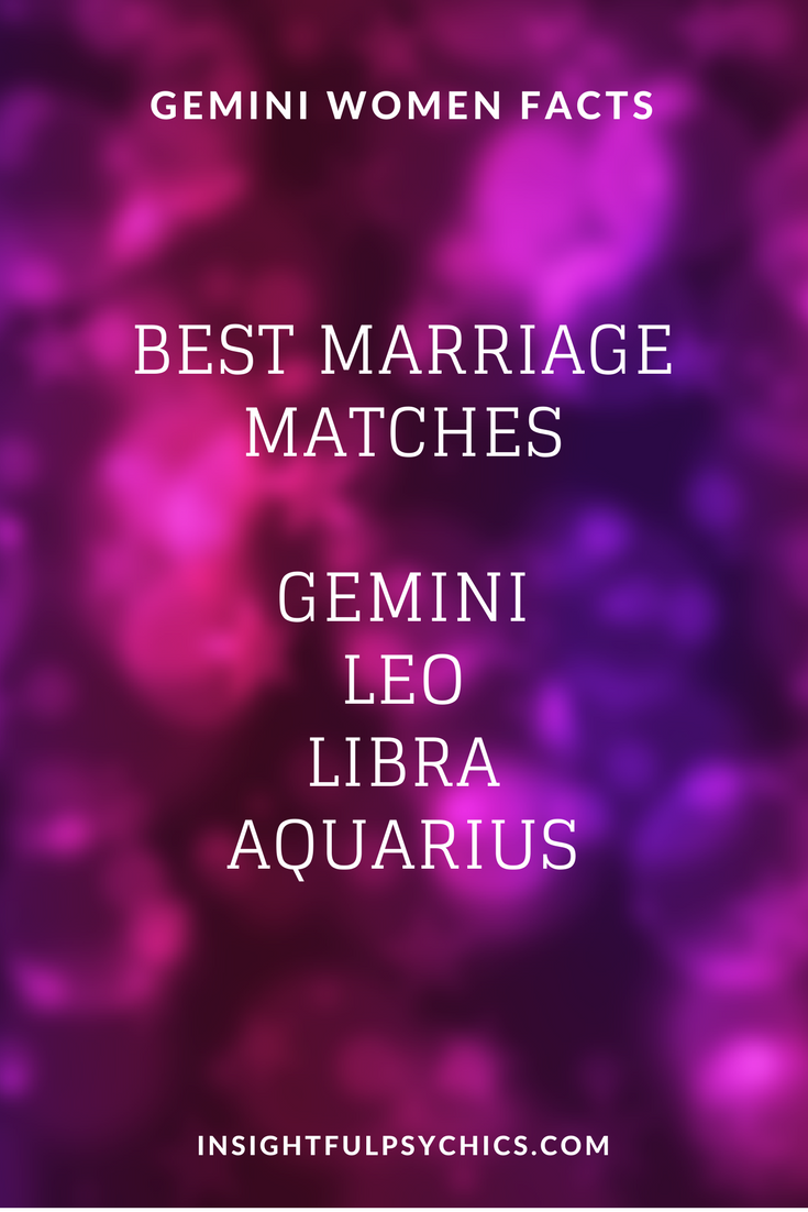 Best star sign match for gemini woman