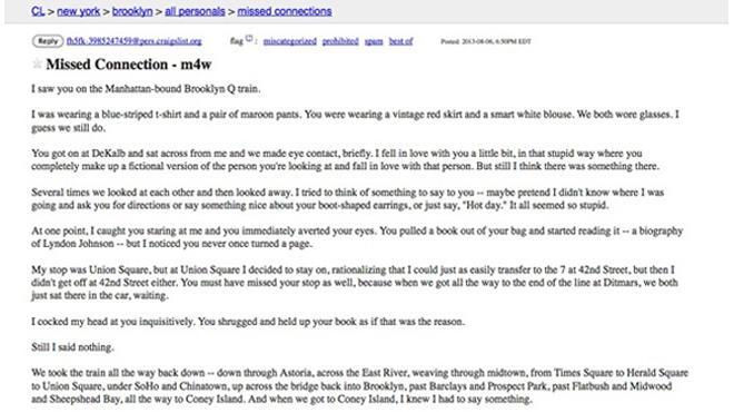 Craigslist brooklyn personals