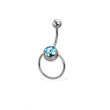Vertical clit hood piercing jewellery