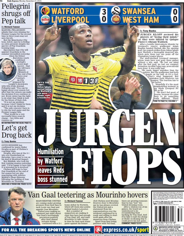 Watford backpage