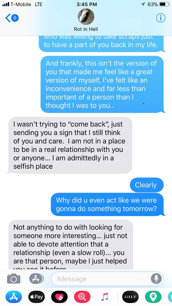 My ex texted me then ignores me. My ex texted me then
