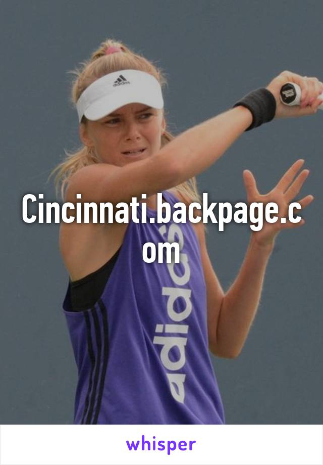 Backpage cincy