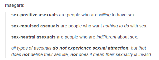 Different types of asexuality