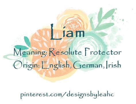 Liam meaning hebrew