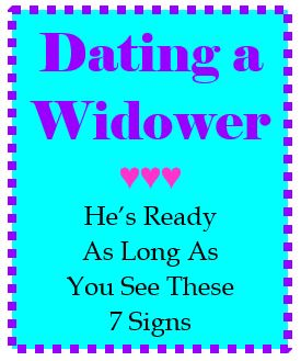 Signs a widower is not ready to date. Signs a widower is